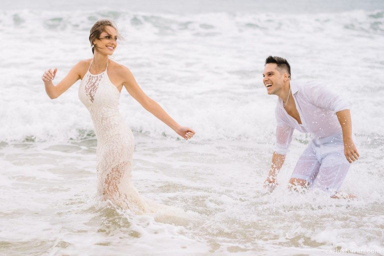 Ensaio Pré-Casamento Dani e Igor: Farol de Santa Marta