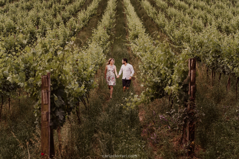 Ensaio Pré Casamento no Vale dos Vinhedos: Daniel e Marina